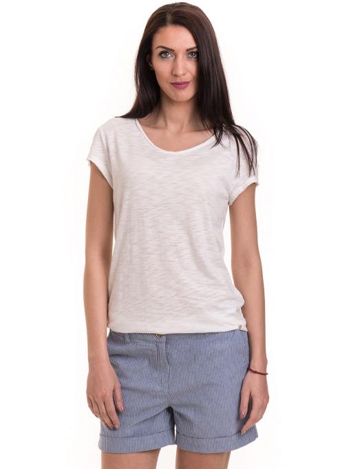 Дамска тениска XINT свободен модел 177 - цвят екрю