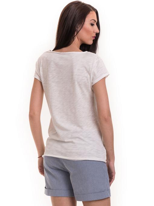 Дамска тениска XINT свободен модел 177 - цвят екрю B