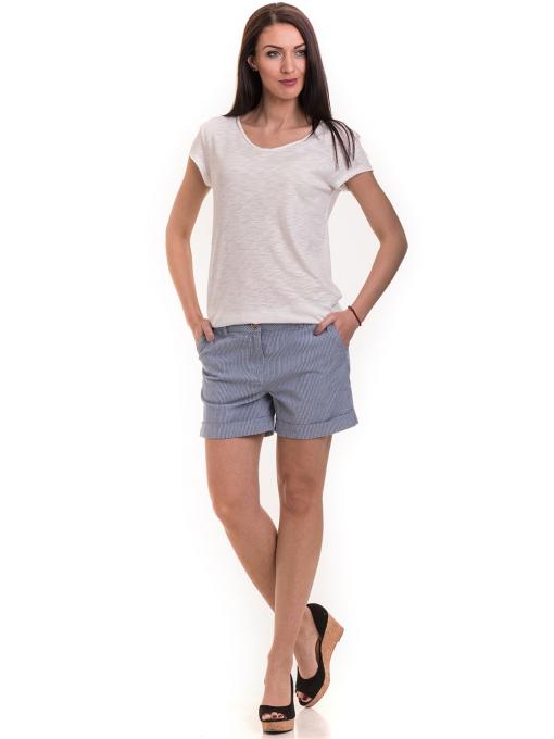 Дамска тениска XINT свободен модел 177 - цвят екрю C