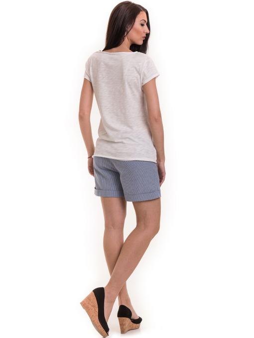 Дамска тениска XINT свободен модел 177 - цвят екрю E