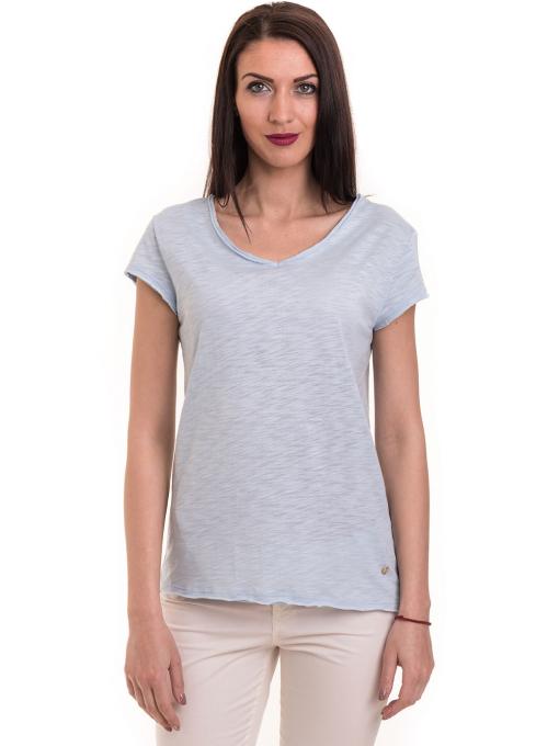 Дамска тениска XINT свободен модел 177  - светло синя