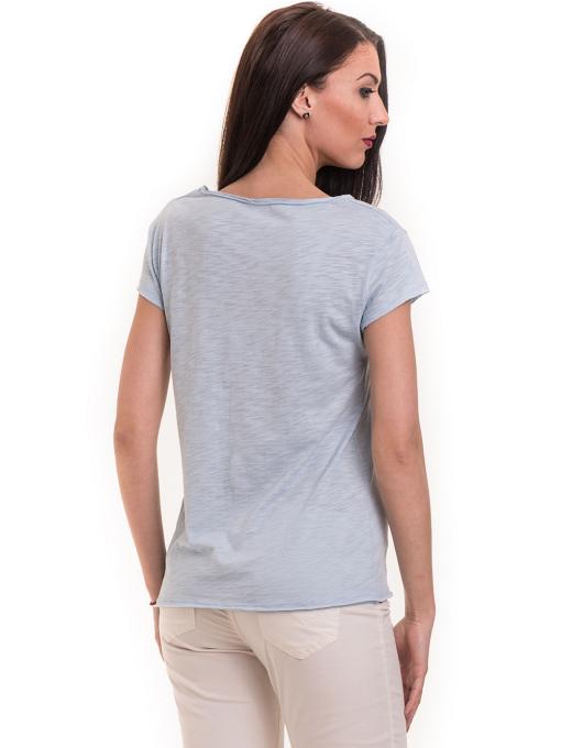 Дамска тениска XINT свободен модел 177  - светло синя B