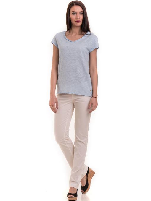 Дамска тениска XINT свободен модел 177  - светло синя C