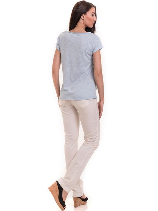 Дамска тениска XINT свободен модел 177  - светло синя E
