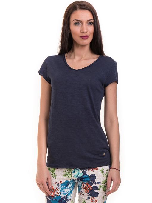 Дамска тениска XINT свободен модел 177 - тъмно синя