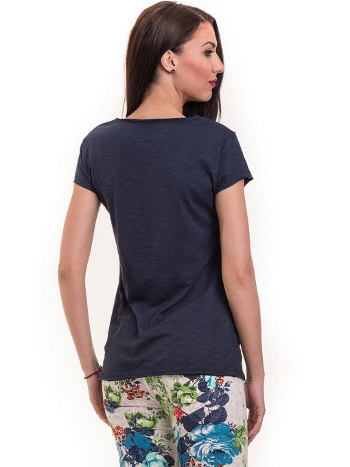 Дамска тениска XINT свободен модел 177 - тъмно синя B