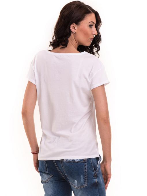 Дамска тениска с щампа XINT 191 - бяла B