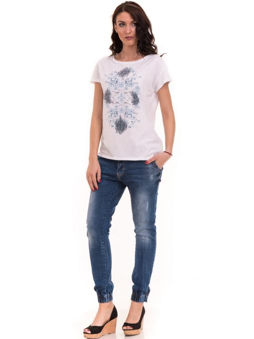 Дамска тениска с щампа XINT 191 - бяла C