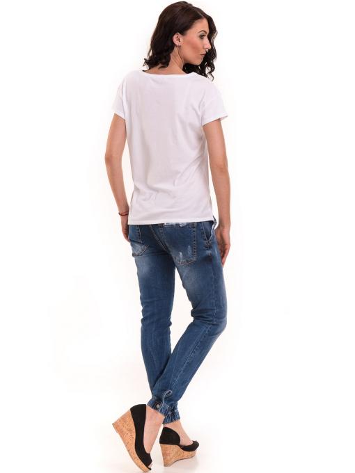 Дамска тениска с щампа XINT 191 - бяла E