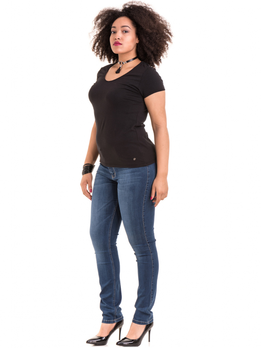 Дамска едноцветна тениска XINT 973 - черна C