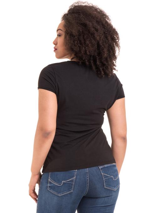 Дамска едноцветна тениска XINT 973 - черна B