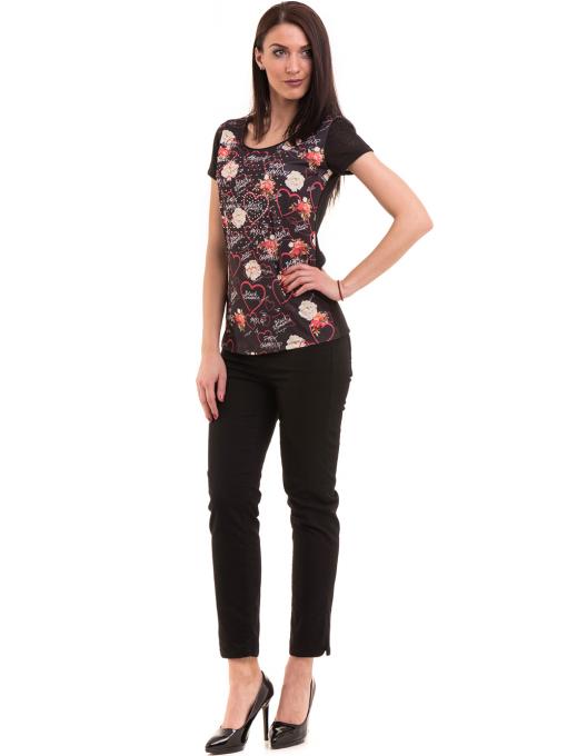Дамска блуза с обло деколте ANA PLANA 3102 - черна C