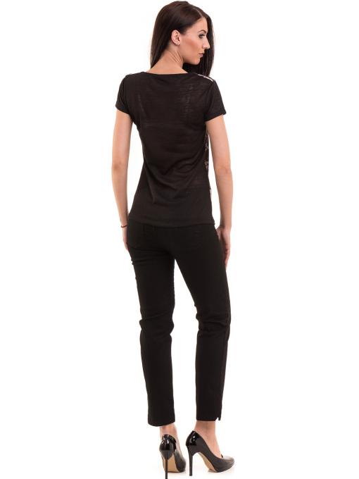 Дамска блуза с обло деколте ANA PLANA 3102 - черна E