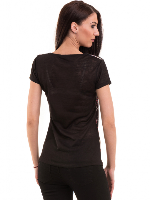 Дамска блуза с обло деколте ANA PLANA 3102 - черна B