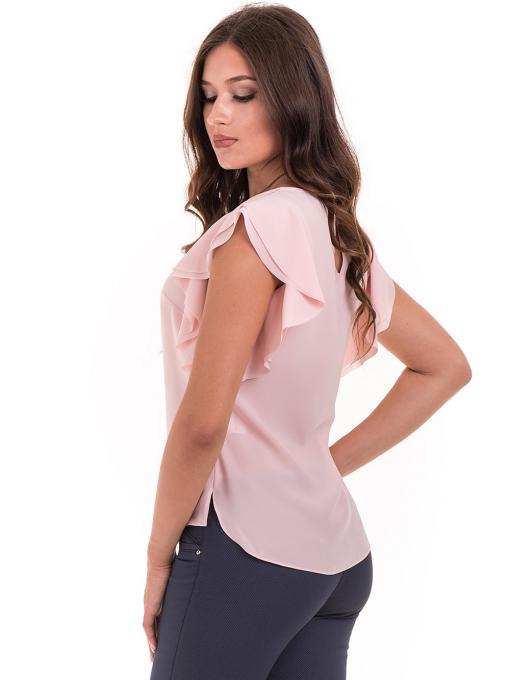 Дамска елегантна блуза GREEN & COUNTRY 1858 с колие - светло розова B