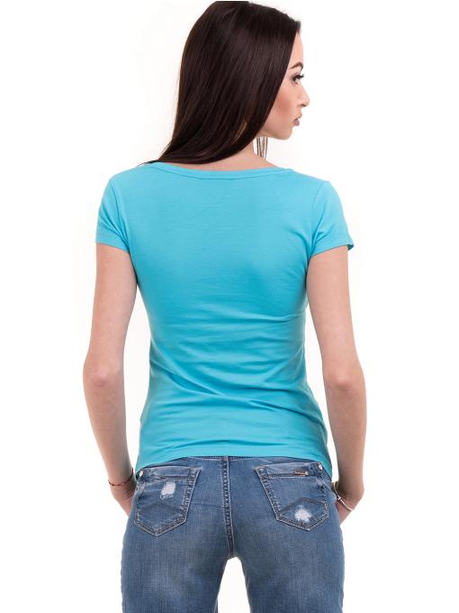Дамска блуза с щампа и пайети JOGGY GIRLS 2092 - синя B