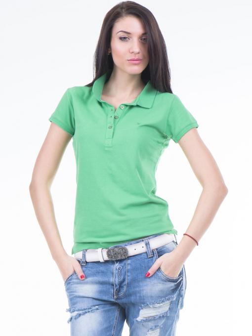 Дамска блуза с яка JOGGY GIRLS 4003 - зелена