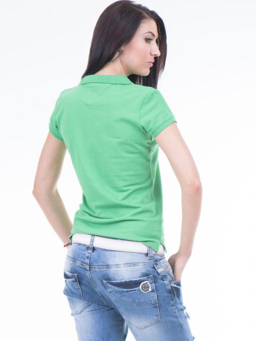 Дамска блуза с яка JOGGY GIRLS 4003 - зелена B