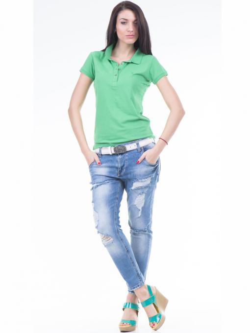 Дамска блуза с яка JOGGY GIRLS 4003 - зелена C