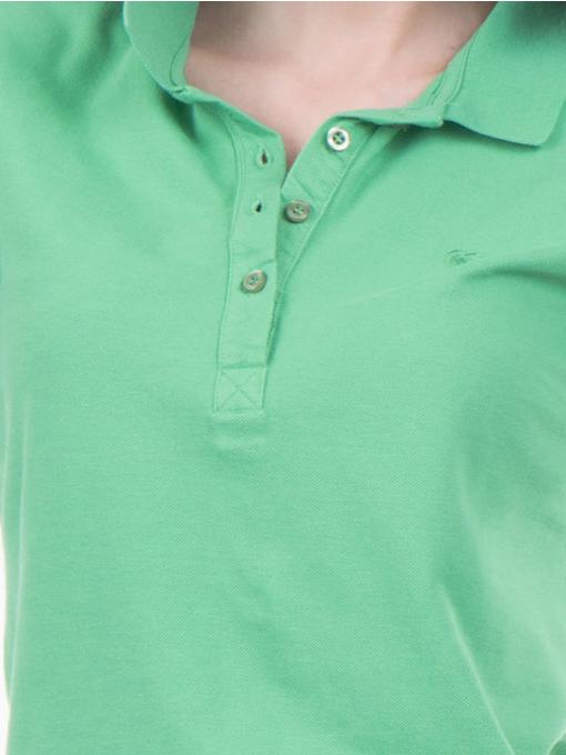Дамска блуза с яка JOGGY GIRLS 4003 - зелена D
