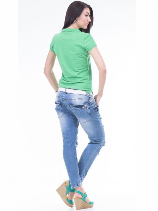 Дамска блуза с яка JOGGY GIRLS 4003 - зелена E