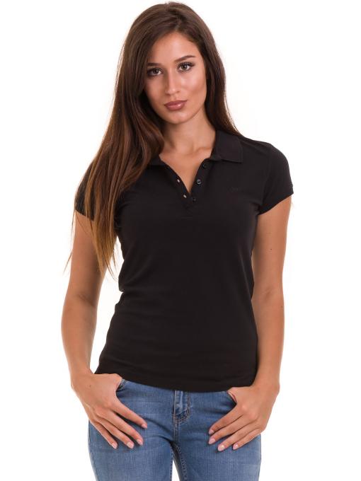 Дамска блуза с яка JOGGY GIRLS 4003 - черна