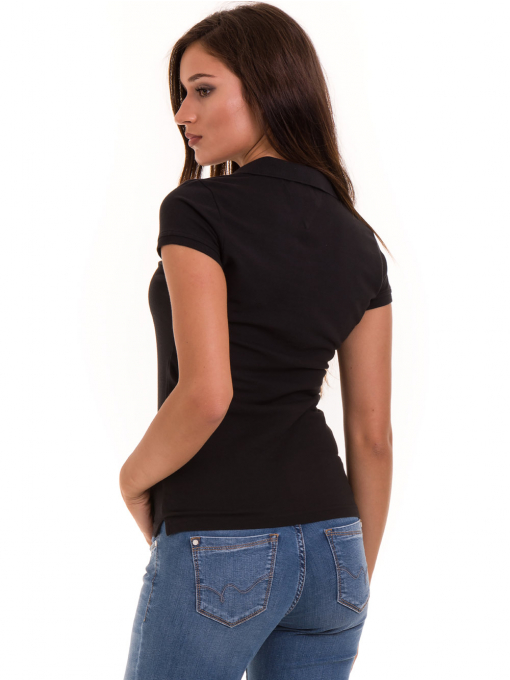 Дамска блуза с яка JOGGY GIRLS 4003 - черна B