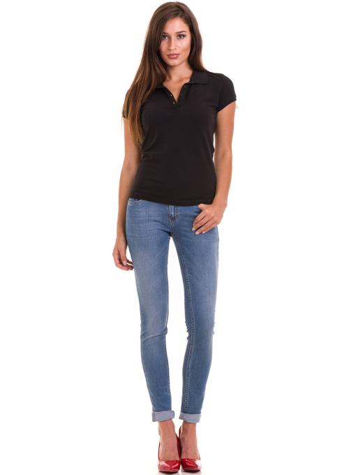 Дамска блуза с яка JOGGY GIRLS 4003 - черна C