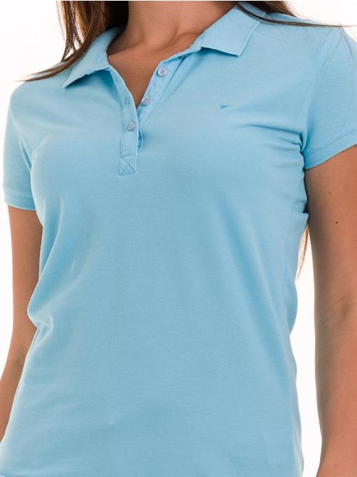 Дамска блуза с яка JOGGY GIRLS 4003 - светло синя D