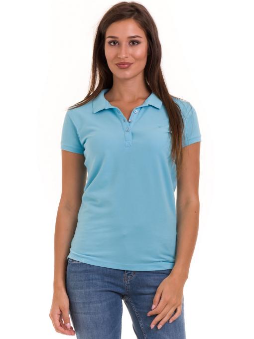 Дамска блуза с яка JOGGY GIRLS 4003 - светло синя