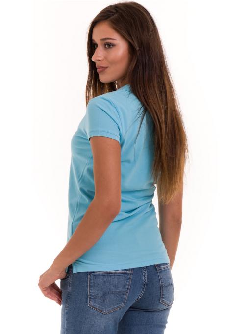 Дамска блуза с яка JOGGY GIRLS 4003 - светло синя B