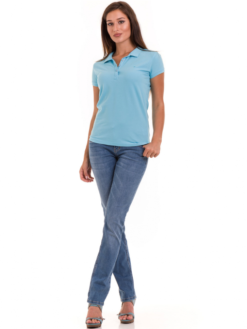 Дамска блуза с яка JOGGY GIRLS 4003 - светло синя C