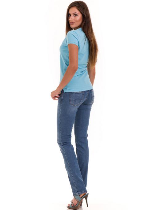 Дамска блуза с яка JOGGY GIRLS 4003 - светло синя E