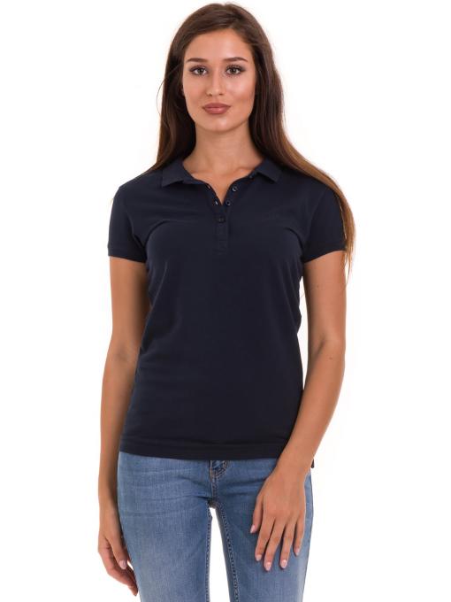 Дамска блуза с къс ръкав JOGGY GIRLS 4003 - тъмно синя