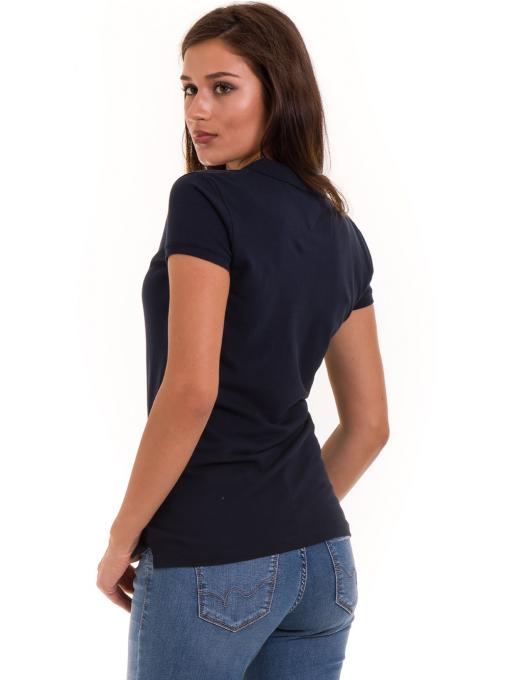 Дамска блуза с къс ръкав JOGGY GIRLS 4003 - тъмно синя B