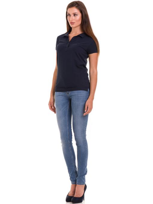 Дамска блуза с къс ръкав JOGGY GIRLS 4003 - тъмно синя C