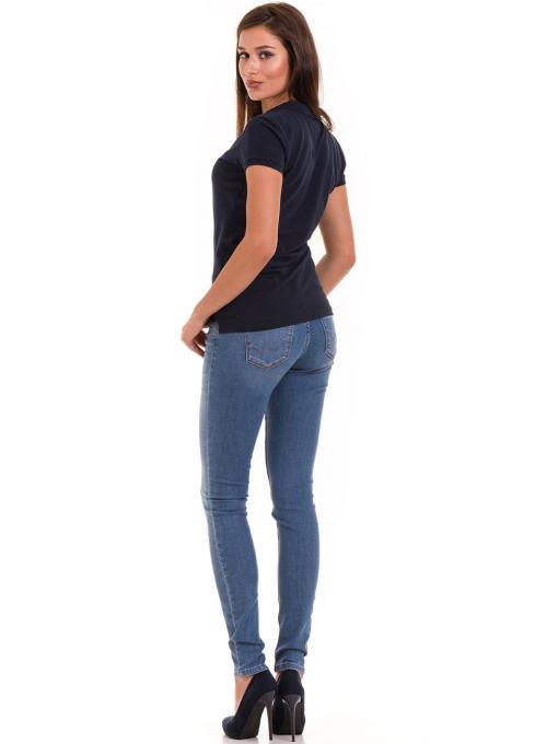 Дамска блуза с къс ръкав JOGGY GIRLS 4003 - тъмно синя E