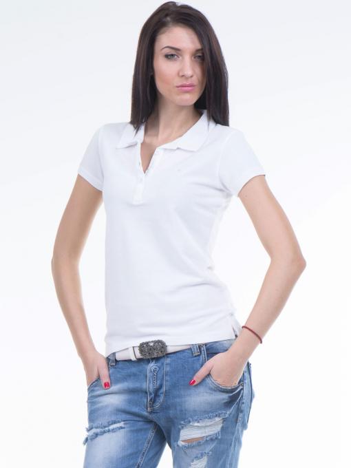 Дамска блуза с яка JOGGY GIRLS 4003 - бяла