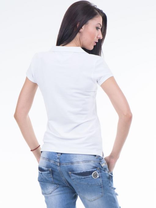 Дамска блуза с яка JOGGY GIRLS 4003 - бяла B