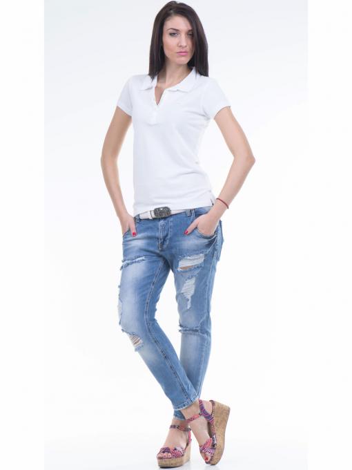 Дамска блуза с яка JOGGY GIRLS 4003 - бяла C