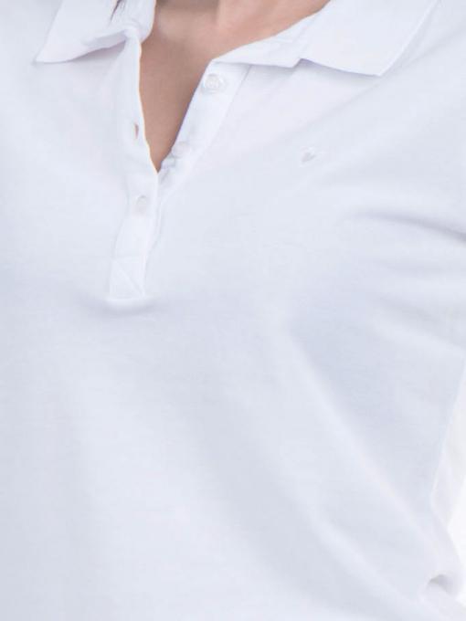 Дамска блуза с яка JOGGY GIRLS 4003 - бяла D