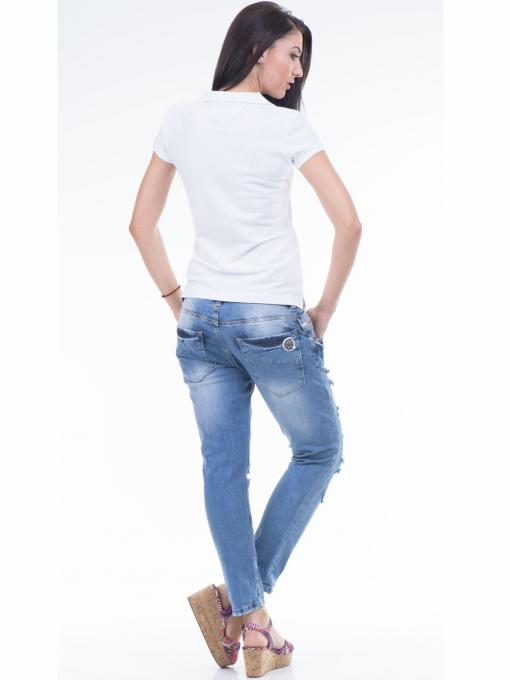 Дамска блуза с яка JOGGY GIRLS 4003 - бяла E