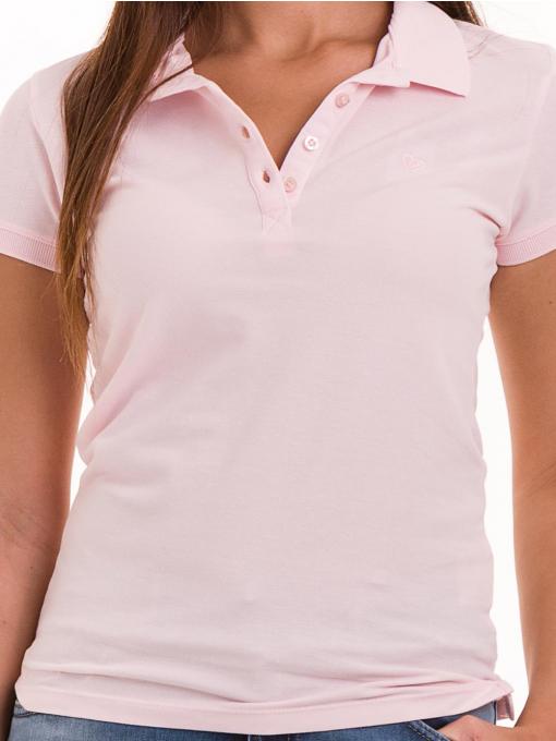 Дамска блуза с яка JOGGY GIRLS 4003 - розова D