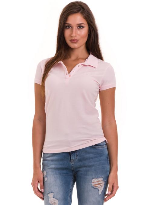 Дамска блуза с яка JOGGY GIRLS 4003 - розова
