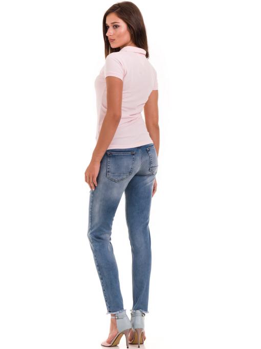 Дамска блуза с яка JOGGY GIRLS 4003 - розова E