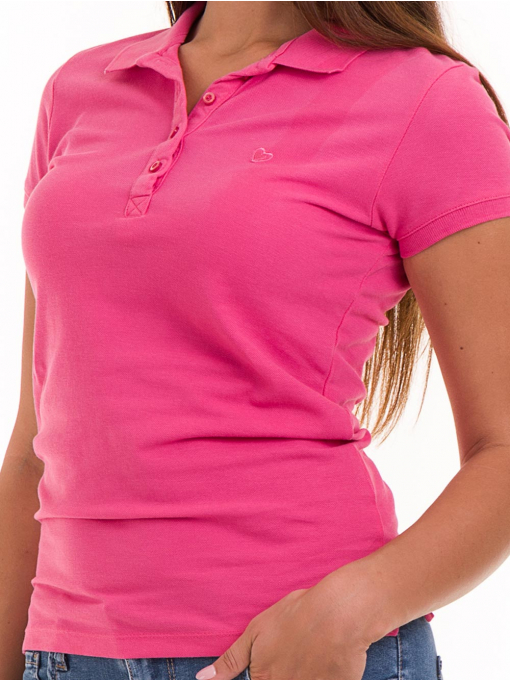 Дамска блуза с яка JOGGY GIRLS 4003 - тъмно розова D
