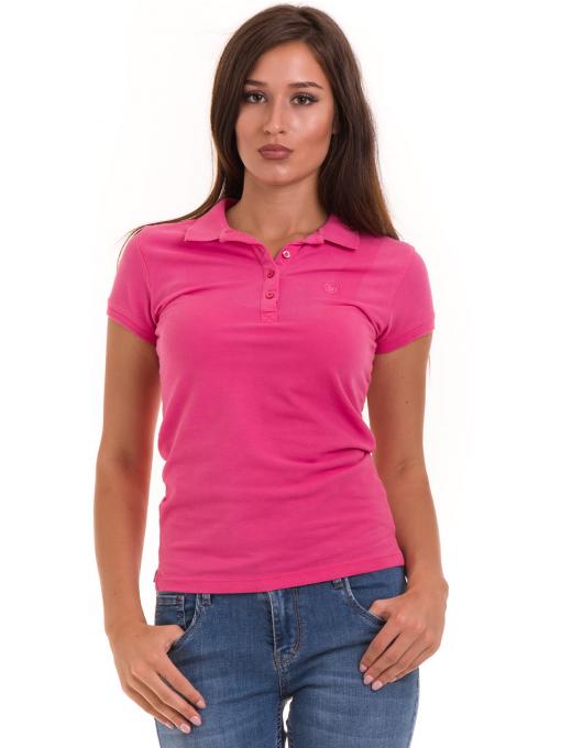 Дамска блуза с яка JOGGY GIRLS 4003 - тъмно розова