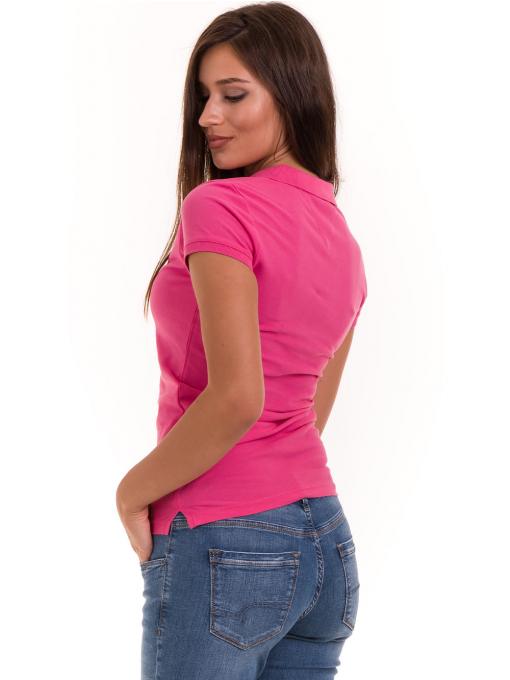 Дамска блуза с яка JOGGY GIRLS 4003 - тъмно розова B