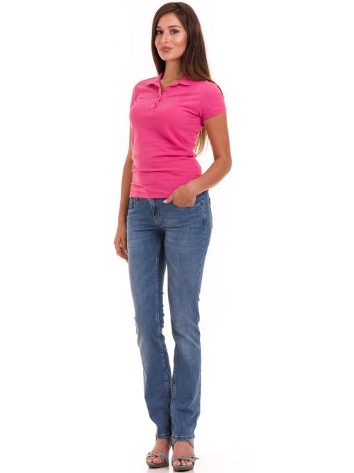 Дамска блуза с яка JOGGY GIRLS 4003 - тъмно розова C