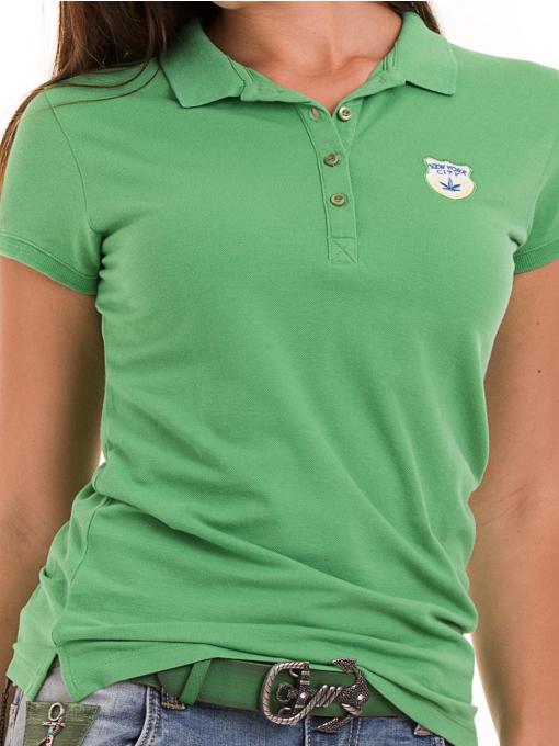 Дамска блуза с яка JOGGY GIRLS 4802- зелена D
